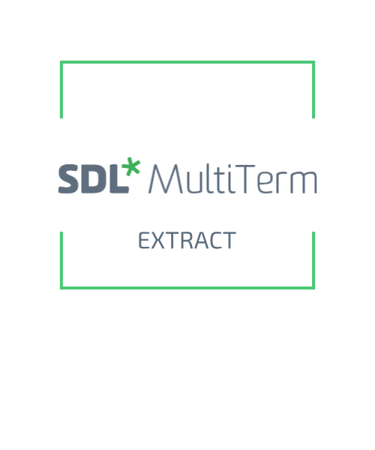 SDL MultiTerm 2019 Extract