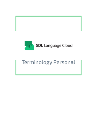 SDL Language Cloud — Terminology Personal
